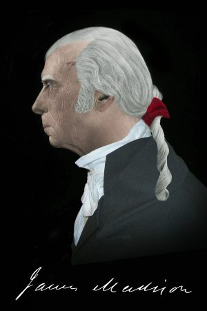 James Madison Life Mask Profile