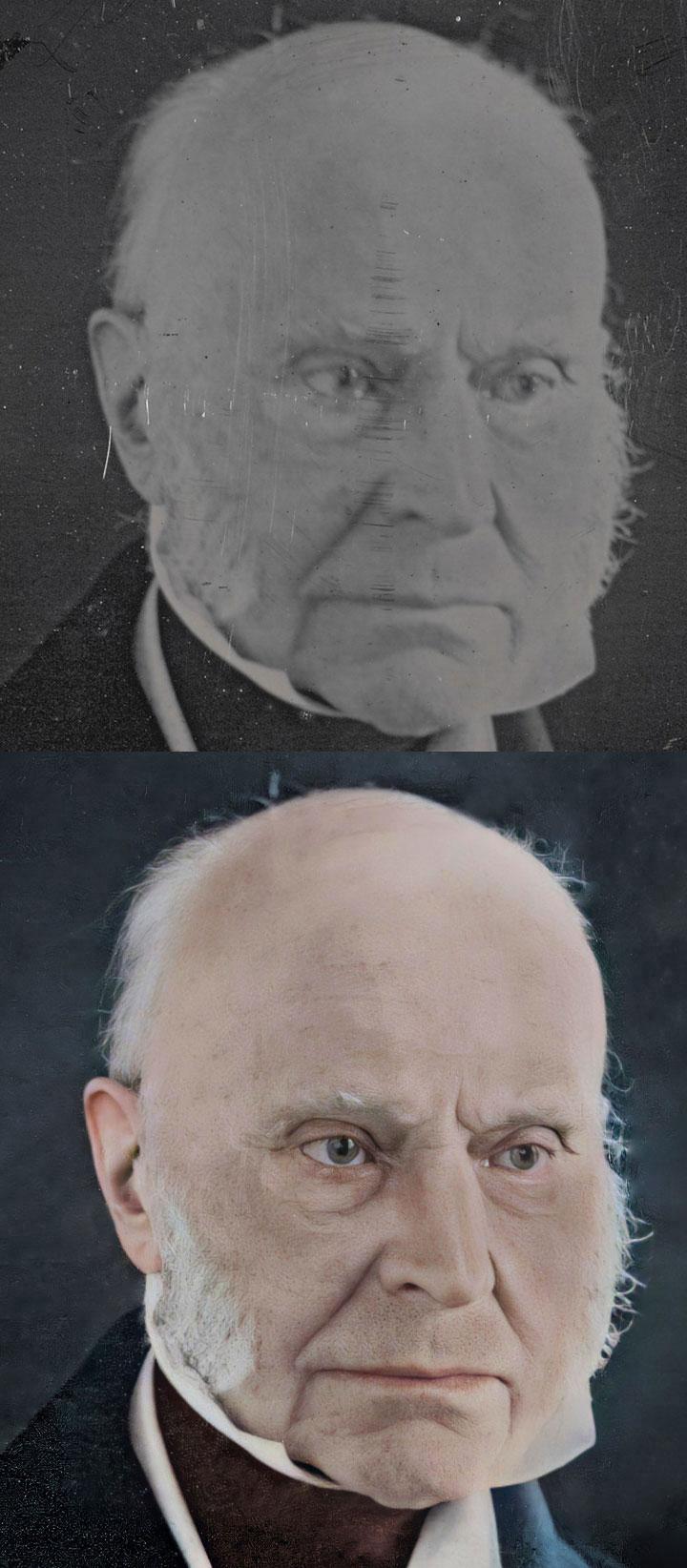 Thomas M. Easterly John Quincy Adams Daguerreotype