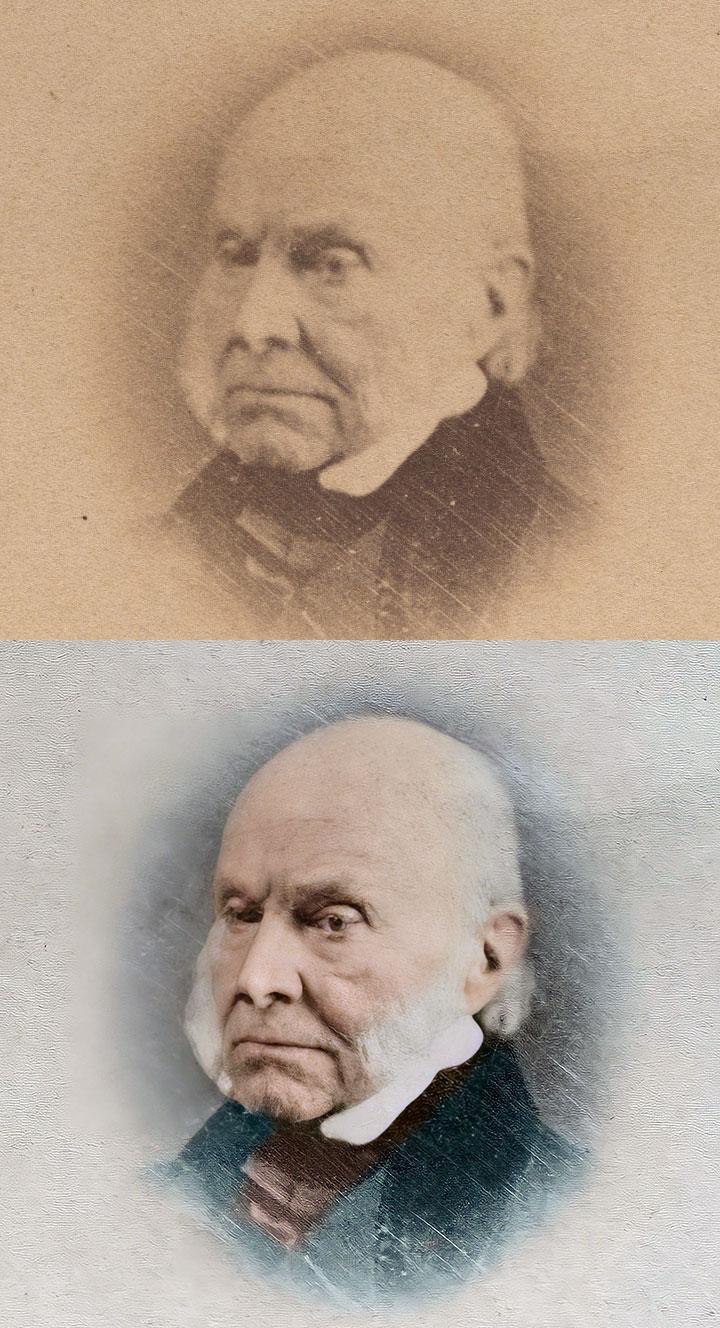 Meade Brothers Studio John Quincy Adams Daguerreotype