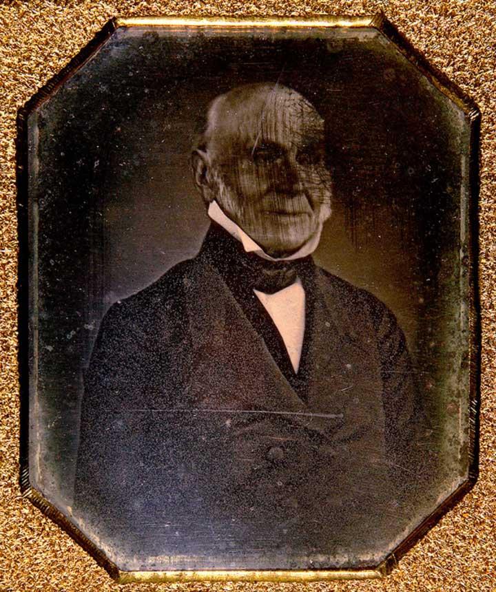 Bishop and Gray Studio John Quincy Adams Daguerreotype