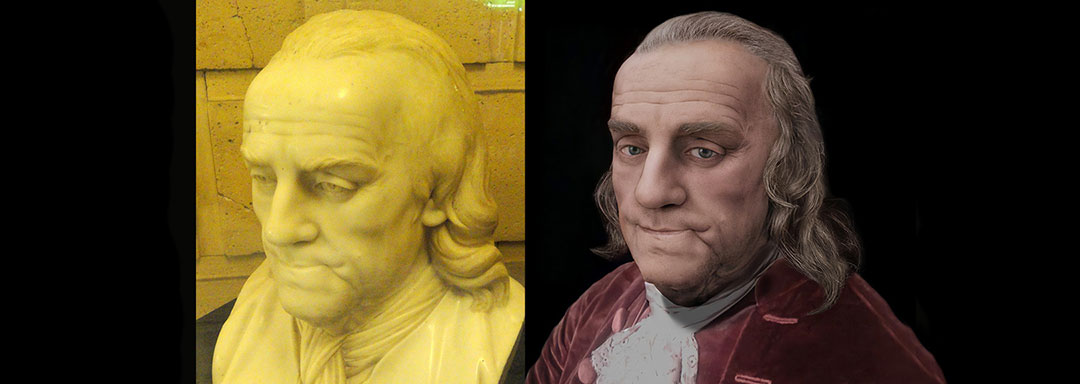 The Face of Benjamin Franklin - Life Mask Reconstruction