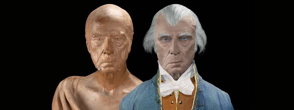 The Real Face of James Madison - Life Mask Reconstruction