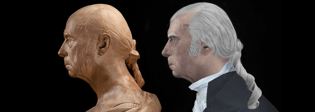 The Real Profile Face of James Madison - Life Mask Reconstruction