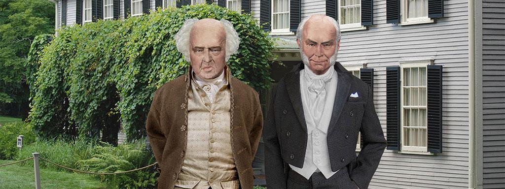 John Adams & John Quincy Adams at Peacefield
