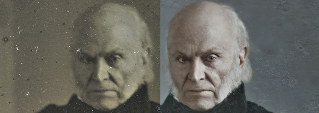 John Quincy Adams - the Enhanced Daguerreotypes