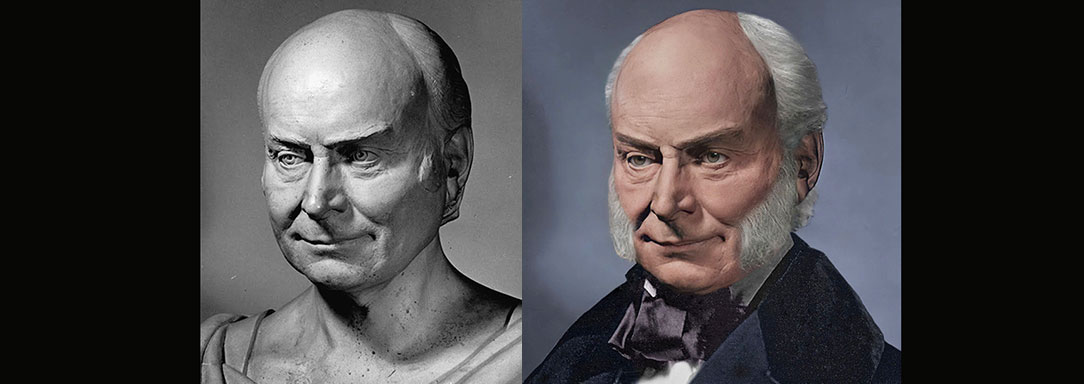 The Real Face of John Quincy Adams No. 2 - Life Mask Reconstruction