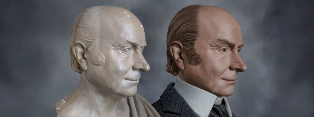 The Real Face of John Quincy Adams - Life Mask Reconstruction