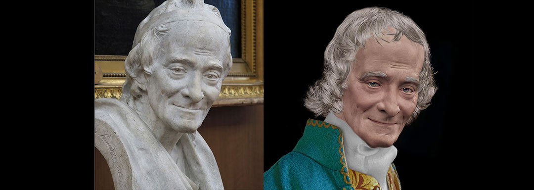 The Real Face of Voltaire - Life Mask Reconstruction