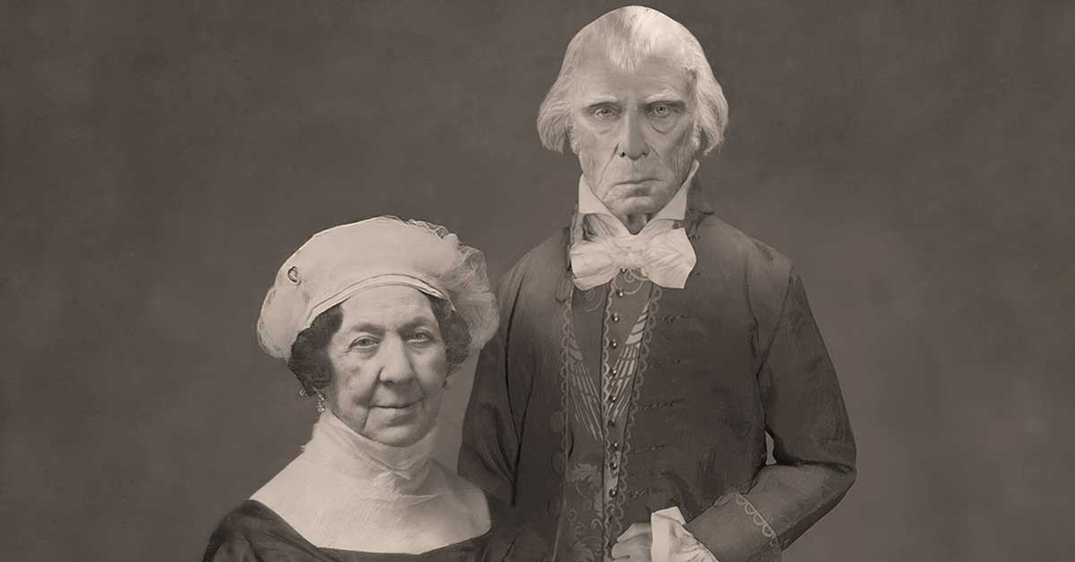 James Madison and Dolley Madison Daguerrotype Photograph