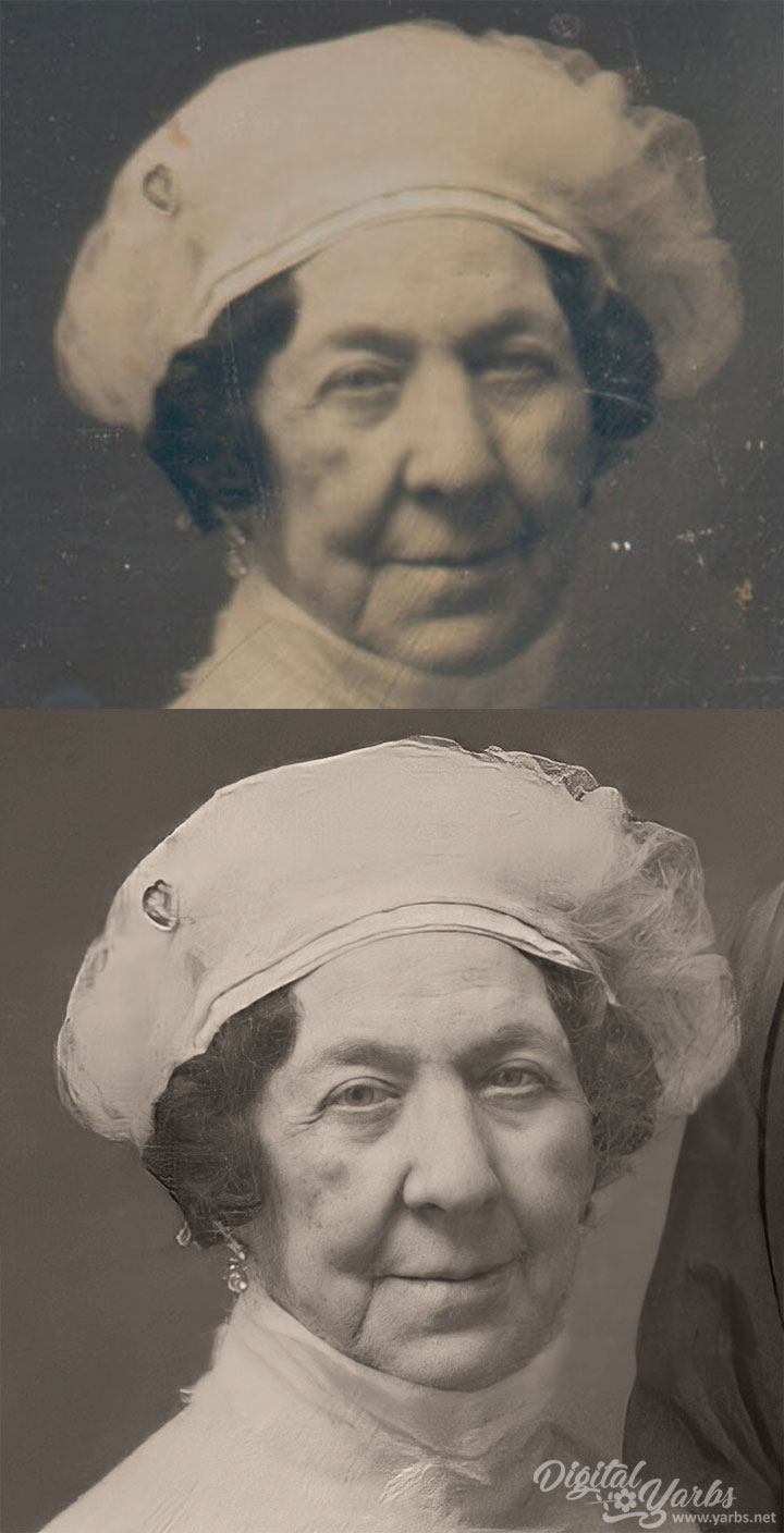 Before and After Dolley Madison Daguerreotype