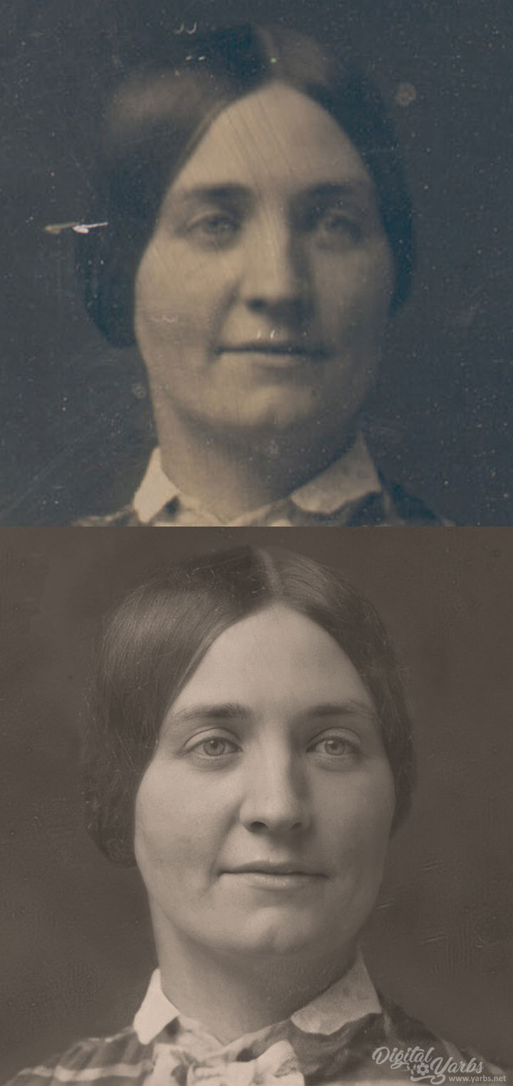 Before and After Anne Payne Daguerreotype