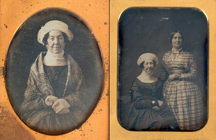 Dolley Madison and Anne Payne Original Daguerreotypes