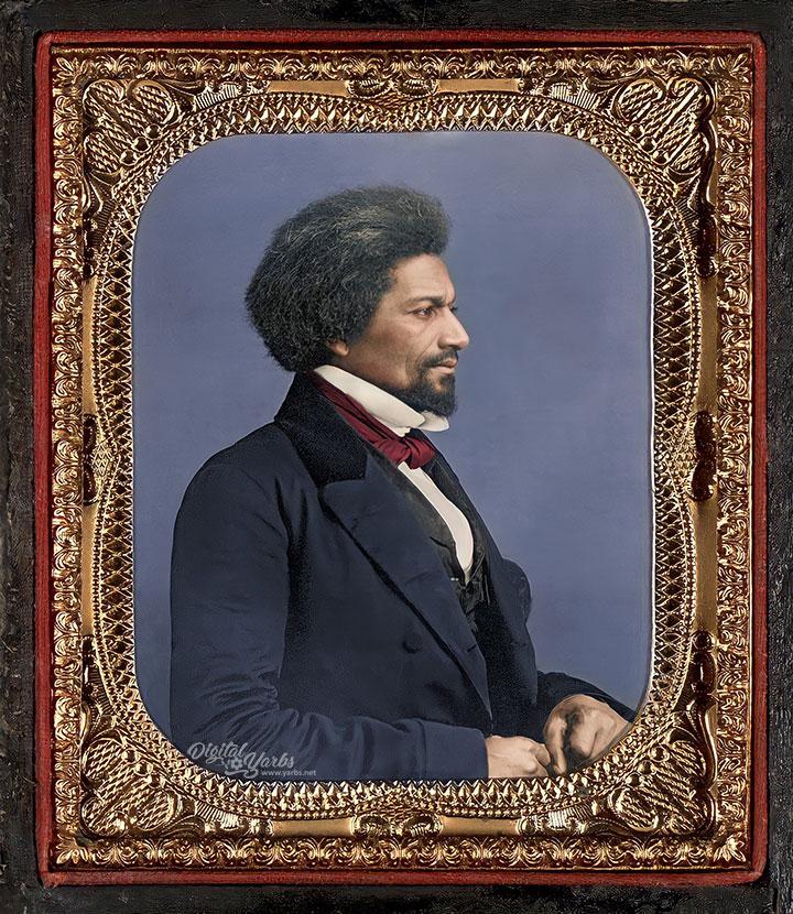 Frederick Douglass Colorized and AI Enhanced Daguerreotype