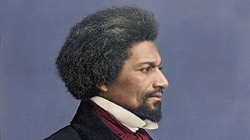 Colorized and Enhanced Profile Daguerreotype of Frederick Douglass