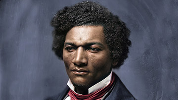 Colorized and Enhanced Full Plate Daguerreotype of Frederick Douglass