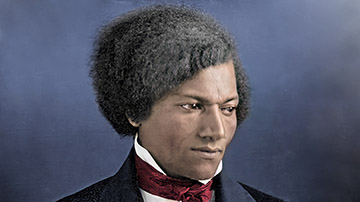 Colorized and Enhanced Early Daguerreotype of Frederick Douglass