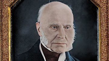 Colorized and Enhanced Thomas Easterly Daguerreotype of John Quincy Adams