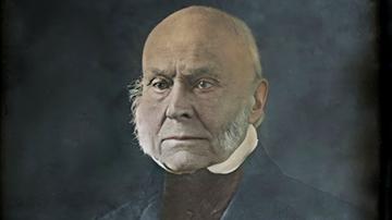 Colorized and Enhanced Daguerreotype of John Quincy Adams