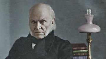 Colorized and Enhanced Daguerreotype of John Quincy Adams No. 2