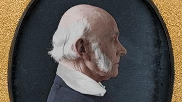Colorized and Enhanced John Blumbe 1846 Daguerreotype of John Quincy Adams