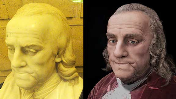 The Life Mask Face Of Benjamin Franklin