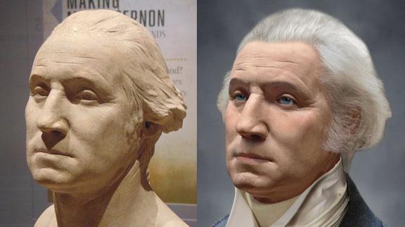 The Life Mask Face Of George Washington