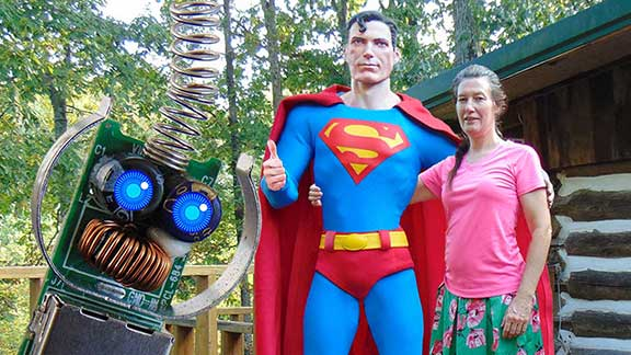An Intimate Tour of the Super Museum in Metropolis with Superman
