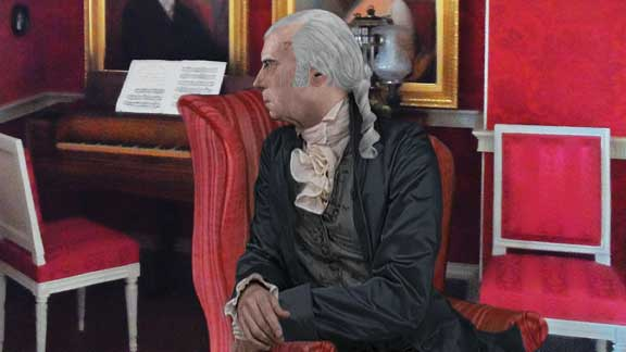 James Madison In The Drawing Room At Montpelier