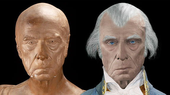 Life Mask of James Madison Reconstructed