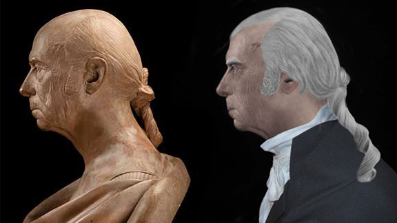 The Life Mask Profile Face Of James Madison