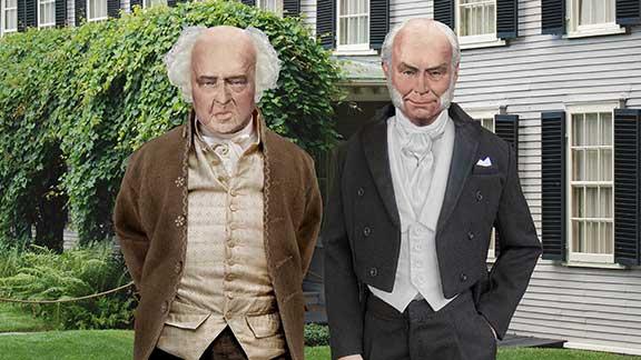 John Adams and John Quincy Adams at Peacefield