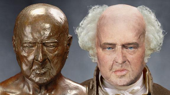 The Life Mask Face Of John Adams