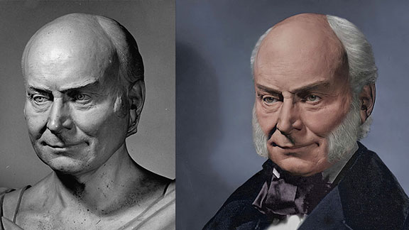 The Life Mask Face Of John Quincy Adams II