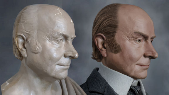 The Life Mask Face Of John Quincy Adams