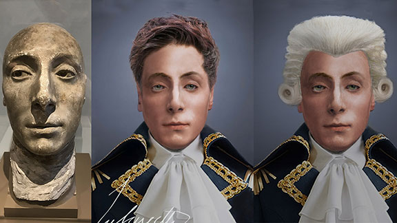 The Life Mask Face Of Marquis de Lafayette I
