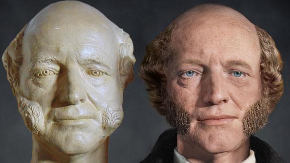 The Life Mask Face Of Martin Van Buren
