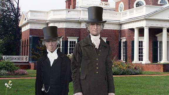 Thomas Jefferson and James Madison at Monticello