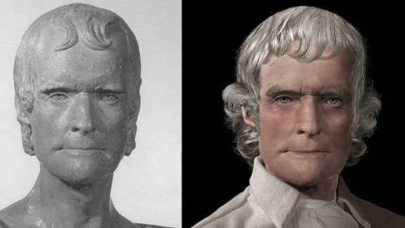 Life Mask of Thomas Jefferson Reconstructed II
