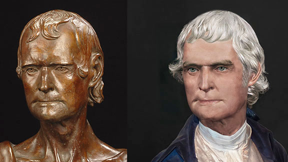 Life Mask of Thomas Jefferson Reconstructed