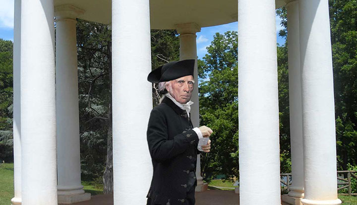 James Madison with ice water