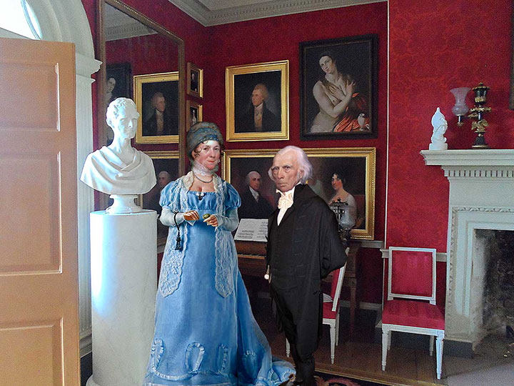 James Madison and Dolley Madison in the Drawing Room of Montpelier