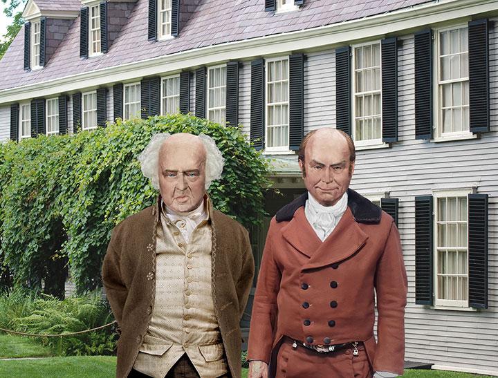 John and John Quincy Adams