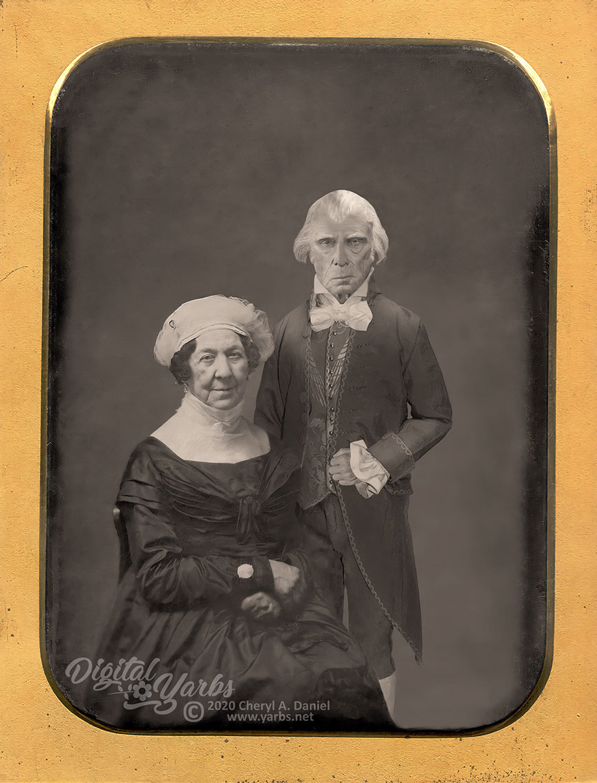 James and Dolley Madison Daguerreotype