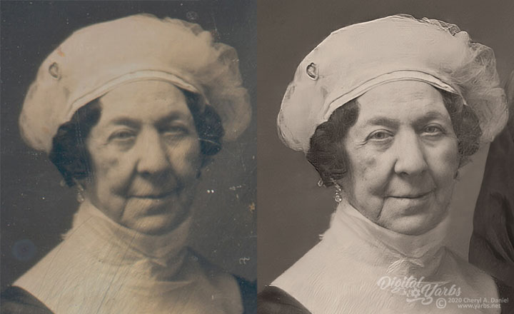 Dolley Madison Daguerreotype Enhancement