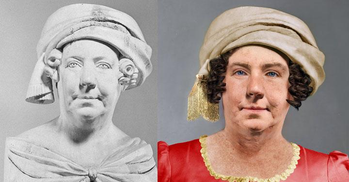 Dolley Madison life mask