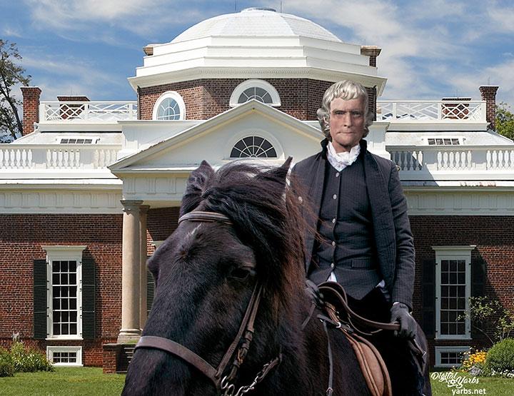 Thomas Jefferson on horseback