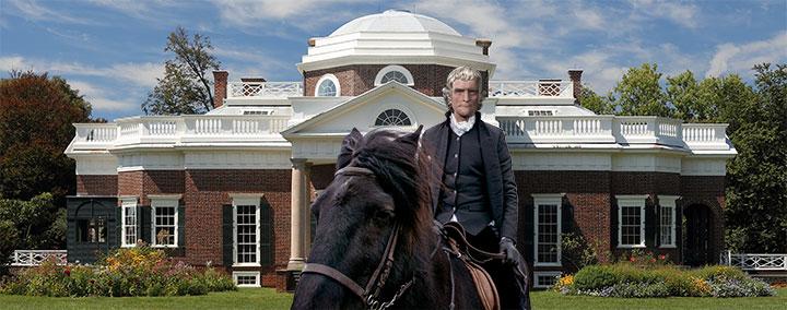 Thomas Jefferson on horseback full size