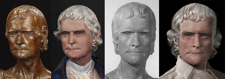 Thomas Jefferson LIfe Masks