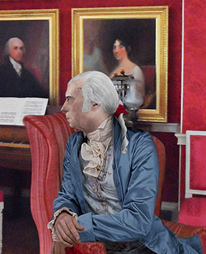 James Madison in the Drawing Room print