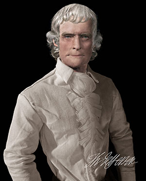Thomas Jefferson Life Mask Print
